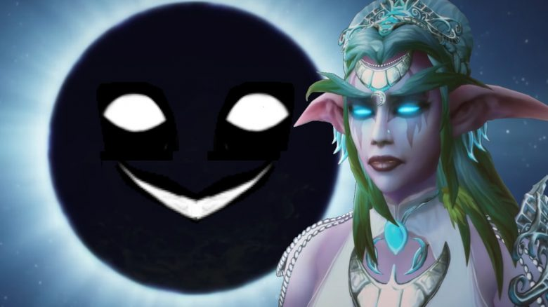 WoW Tyrande Elune creepy smile title 1280x720