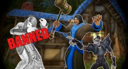 WoW Undead point GM Bann hammer human female banned titel title 1280x720