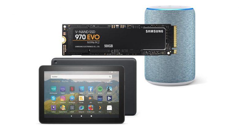 M.2-SSD, Fire-Tablet, Echo-Lautsprecher und mehr bei Amazon reduziert