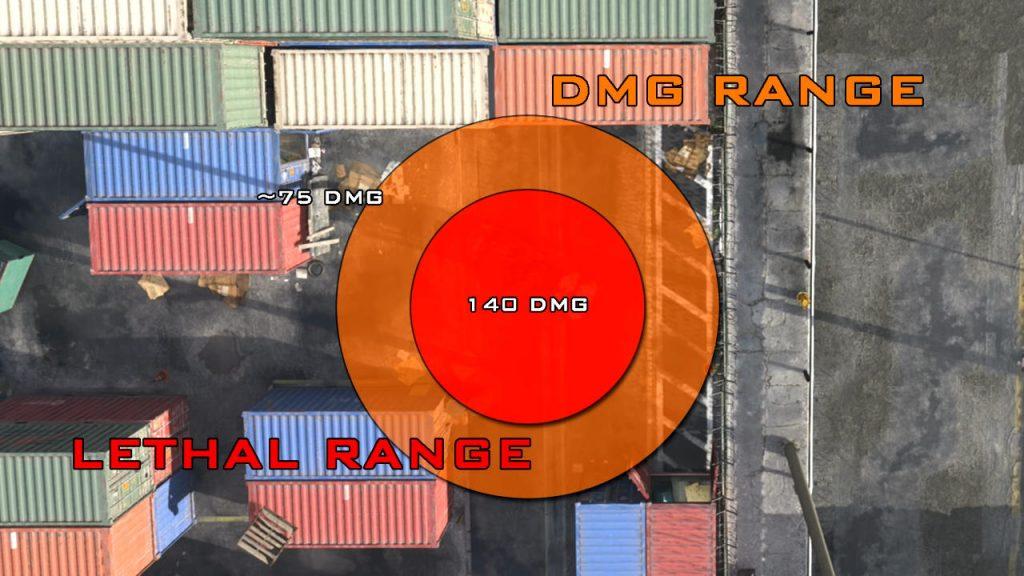 cod modern warfare warzone splittergranate semtex wirkbereich