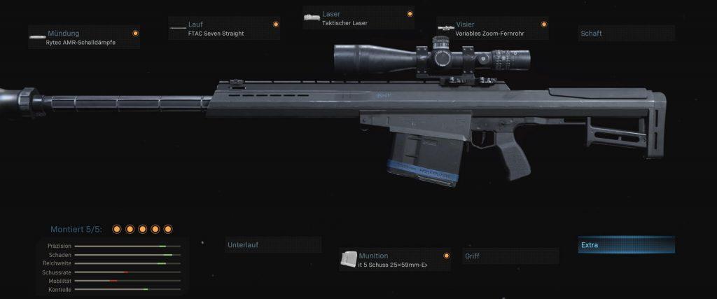 cod warzone waffen sniper rytec amr explosiv setup