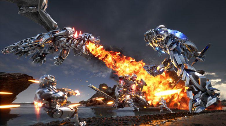 Neuer Free2Play-Shooter lässt euch Riesenroboter steuern und Metall-Drachen bekämpfen