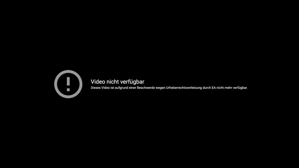 YouTube-Meldung FIFA 21 Leak