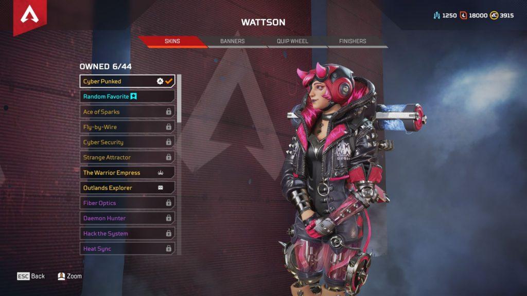 apex legends wattson cyberpunked