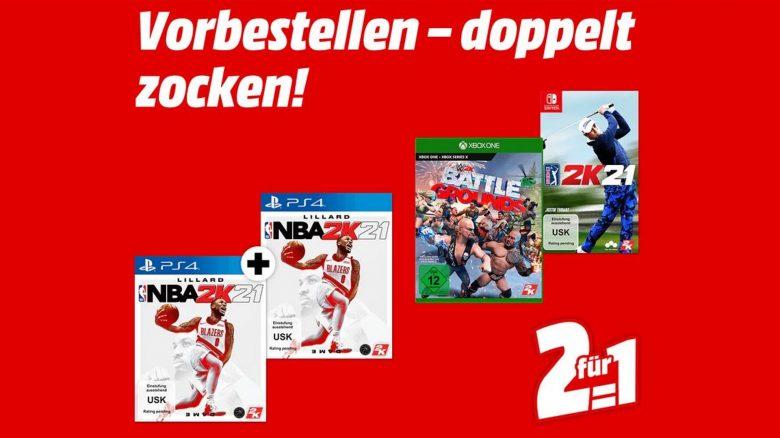 2 für 1: NBA 2K21-Doppel für PS5 & Xbox Series X günstig bei Mediamarkt