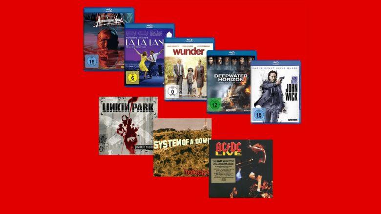 Blu-rays, DVDs und CDs aktuell vergünstigt bei MediaMarkt