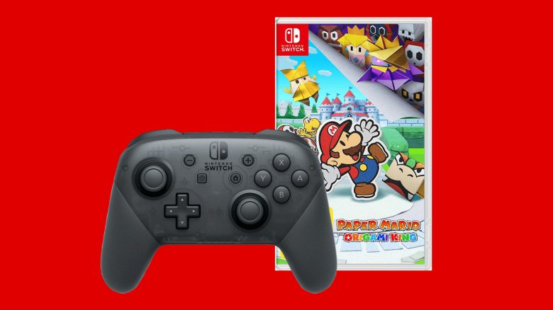 Paper Mario mit Switch Pro-Controller vergünstigt bei MediaMarkt