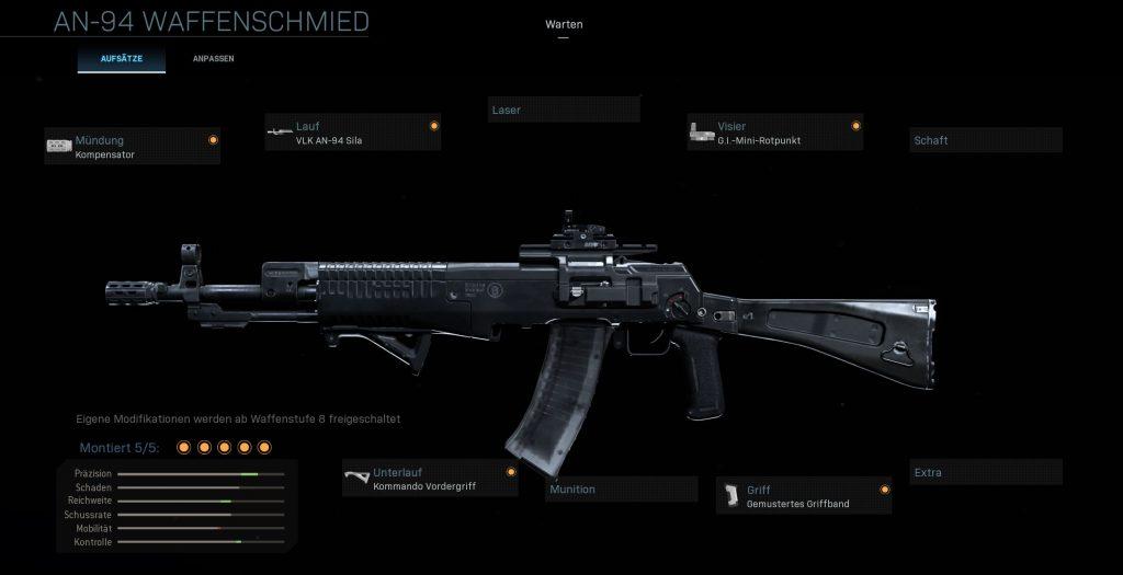Call fo Duty Modern Warfare Octane AN 94 Setup