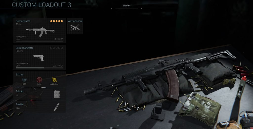 Call fo Duty Modern Warfare Warzone AN 94 Multiplayer Loadout