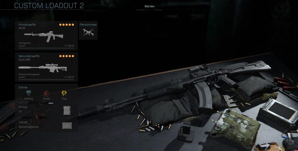 Call fo Duty Modern Warfare Warzone AN 94 Warzone Laodout
