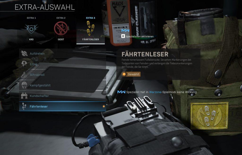 Call fo Duty Modern Warfare Warzone Fährtenleser