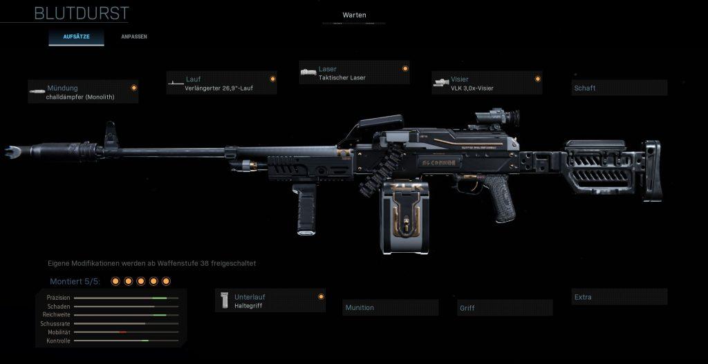 Call fo Duty Warzone Nickmercs PKM Build Blutdurst