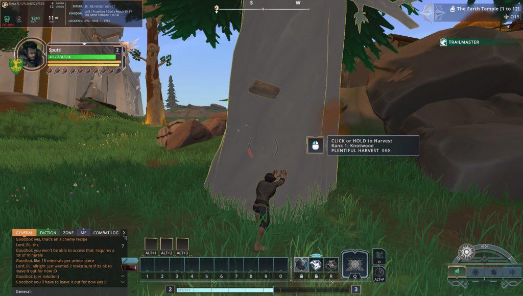 Crowfall Baum fällen