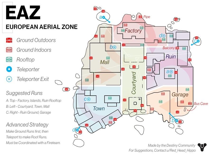 ELZ Lustzone Sonnenwende Karte Map 2020 Route Kisten Destiny 2