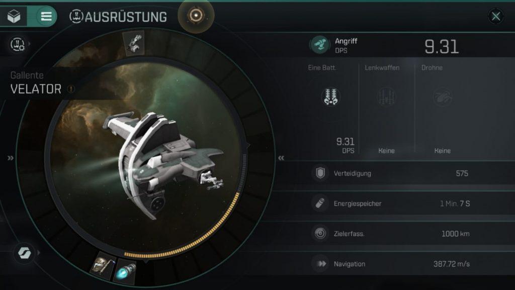 EVE Echoes Schiff Ausrüstung