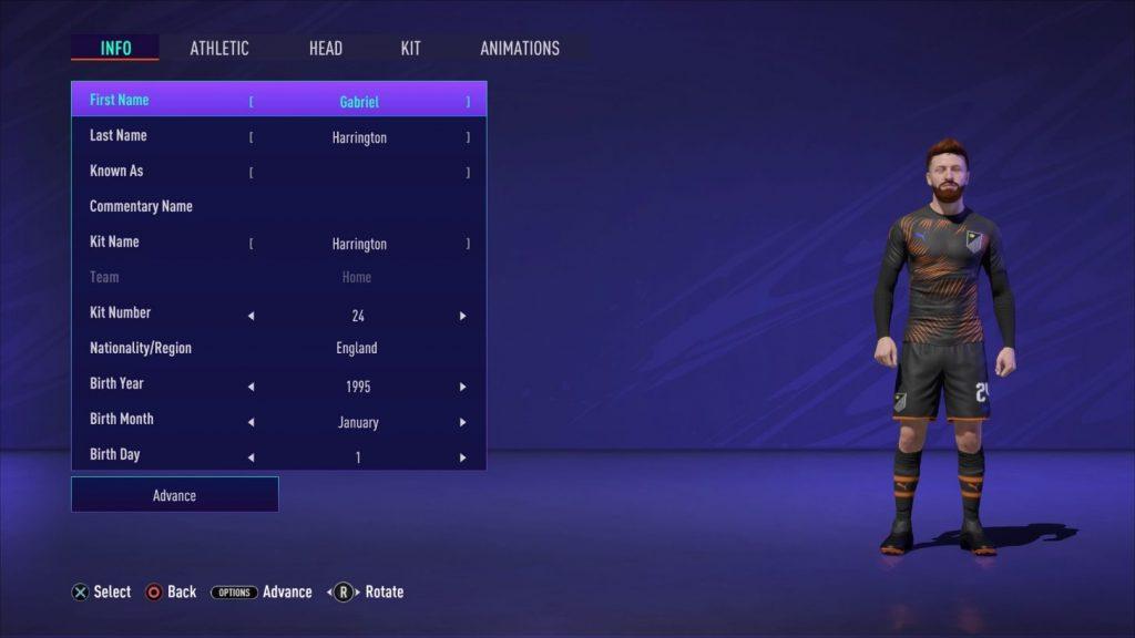 FIFA 21 Pro Club Spieler