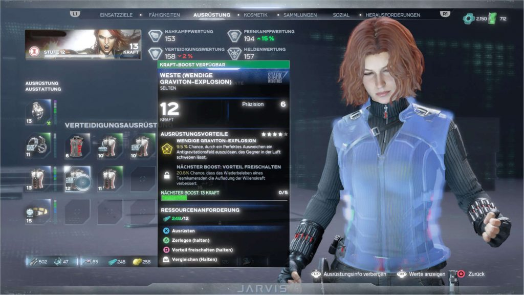 Marvels-Avengers-held-black-widow-menü-ausrüstung