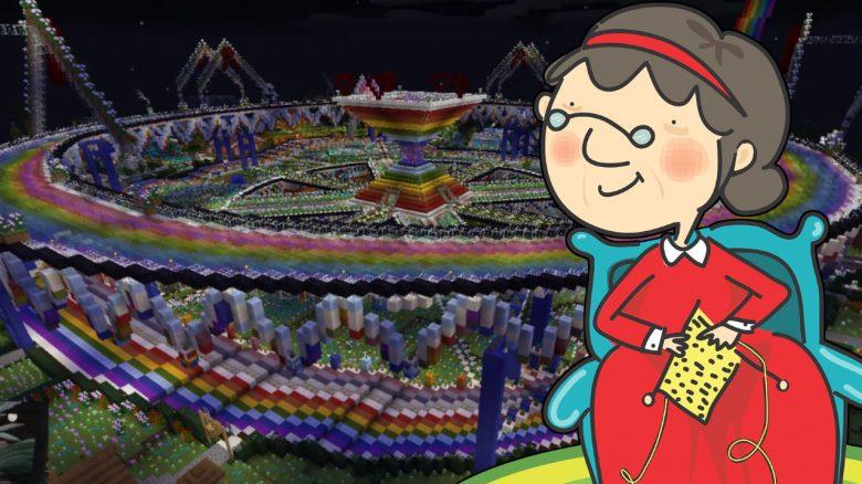 """Diese """"Minecraft-Oma"""" zeigt die Welt, an der sie 6 Jahre gebaut hat"""