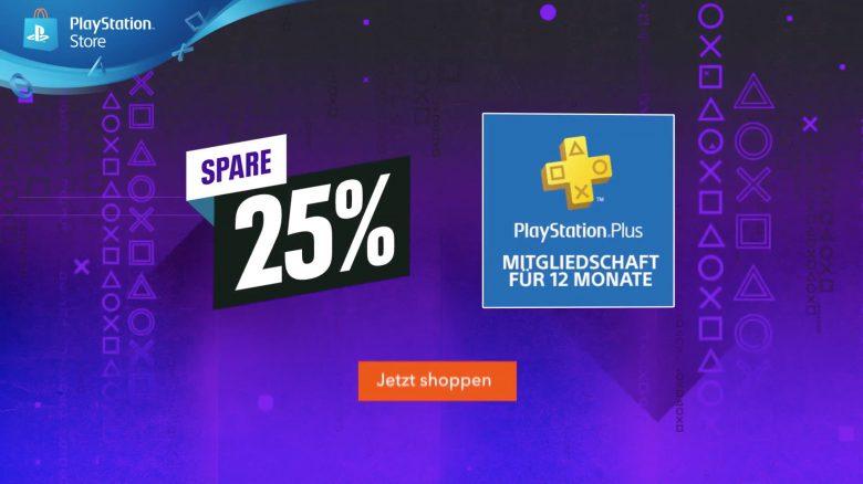 Beeilung! Schnappt euch jetzt im PS Store 12 Monate PS Plus 25% günstiger