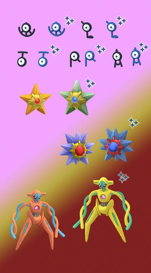 Pokémon GO Enigma Woche Shinys