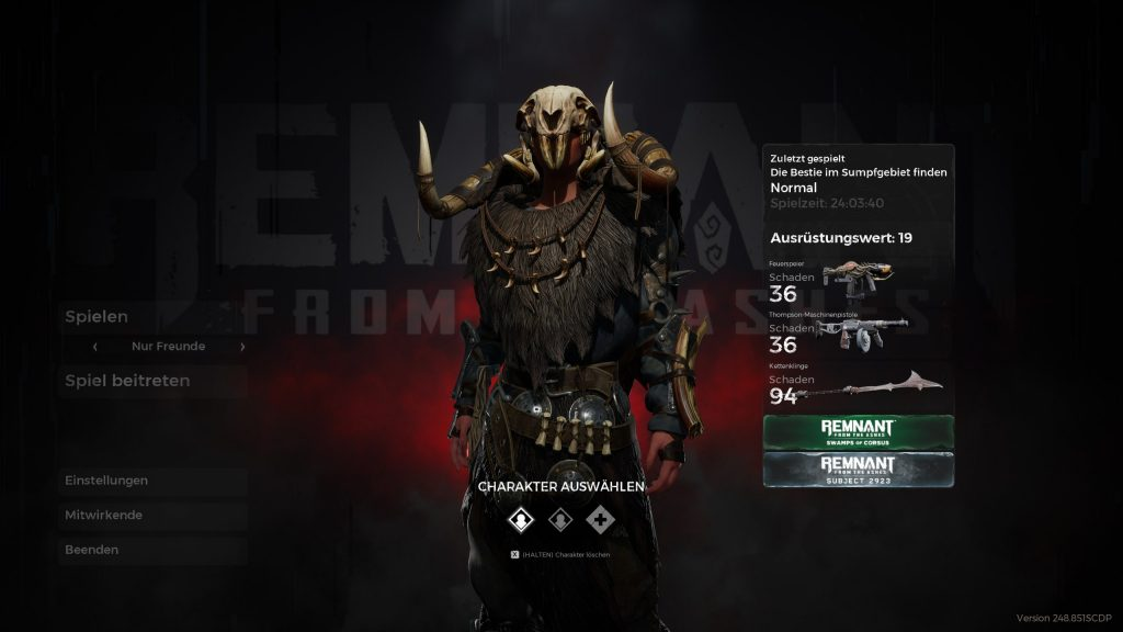 Remnant Subject 2923 Mein Build 2