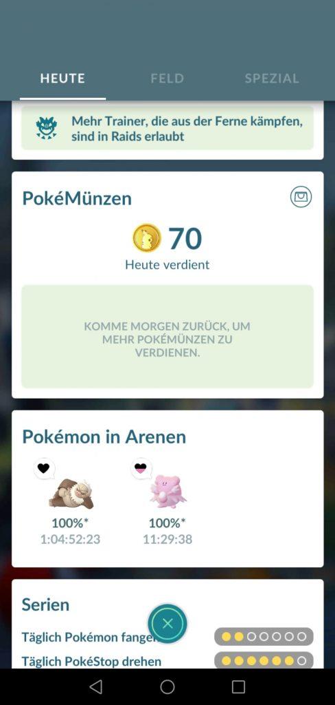 Münzsystem Pokemon GO