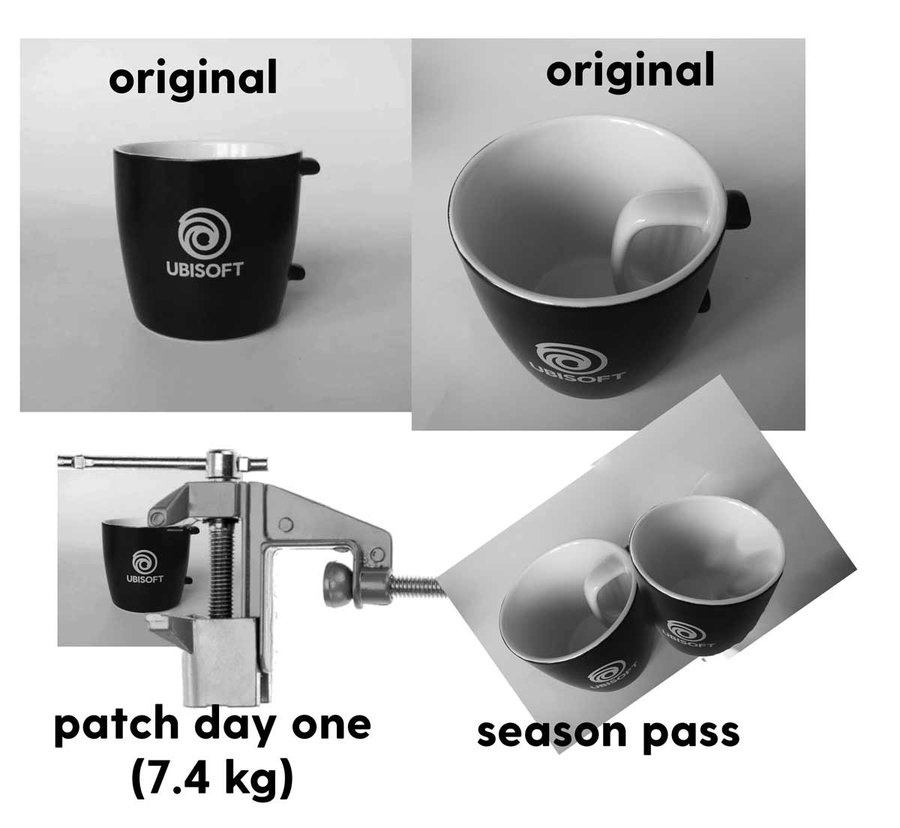 Ubisoft Tasse Bug Lösung