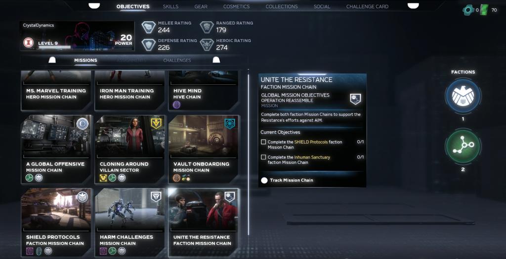marvels avengers missionen liste
