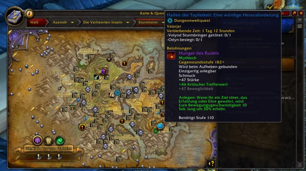 WOW Hunger of the Pack in Legion Map 2