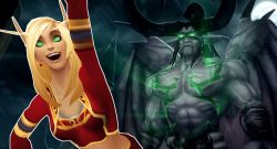 WoW Classic Burning Crusade Illidan Blood Elf Cheer titel title 1280x720