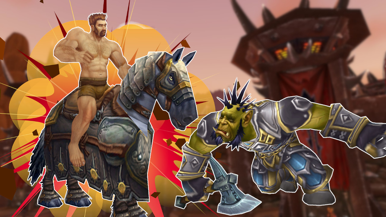 WoW Naked Paladin Mount Death Orc titel title 1280x720
