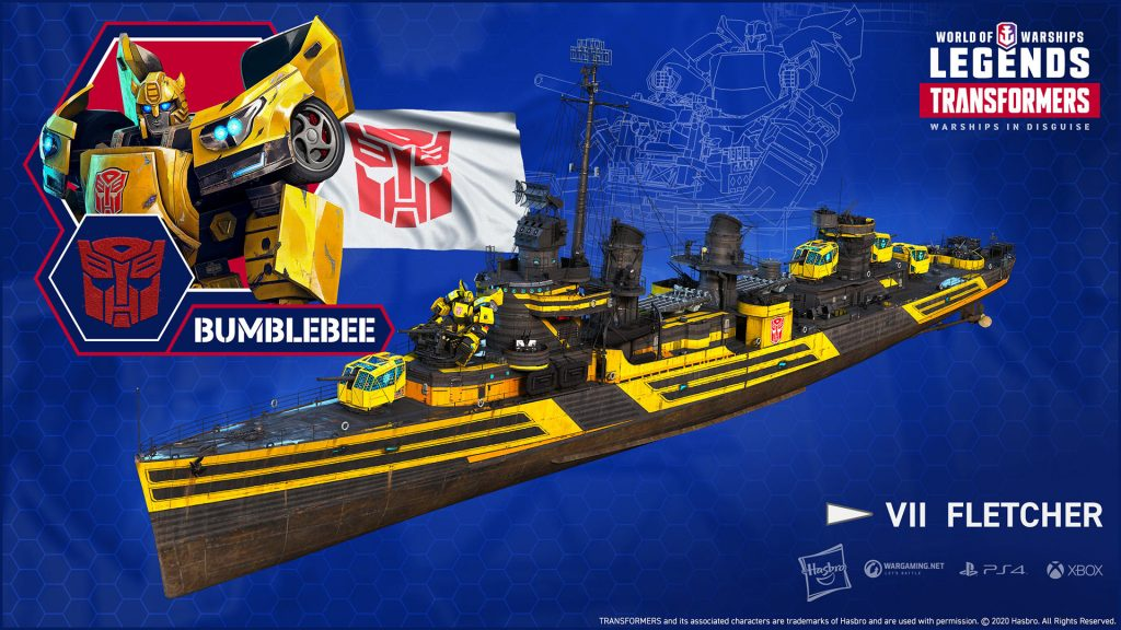 World of Warships Transformers Bumblebee