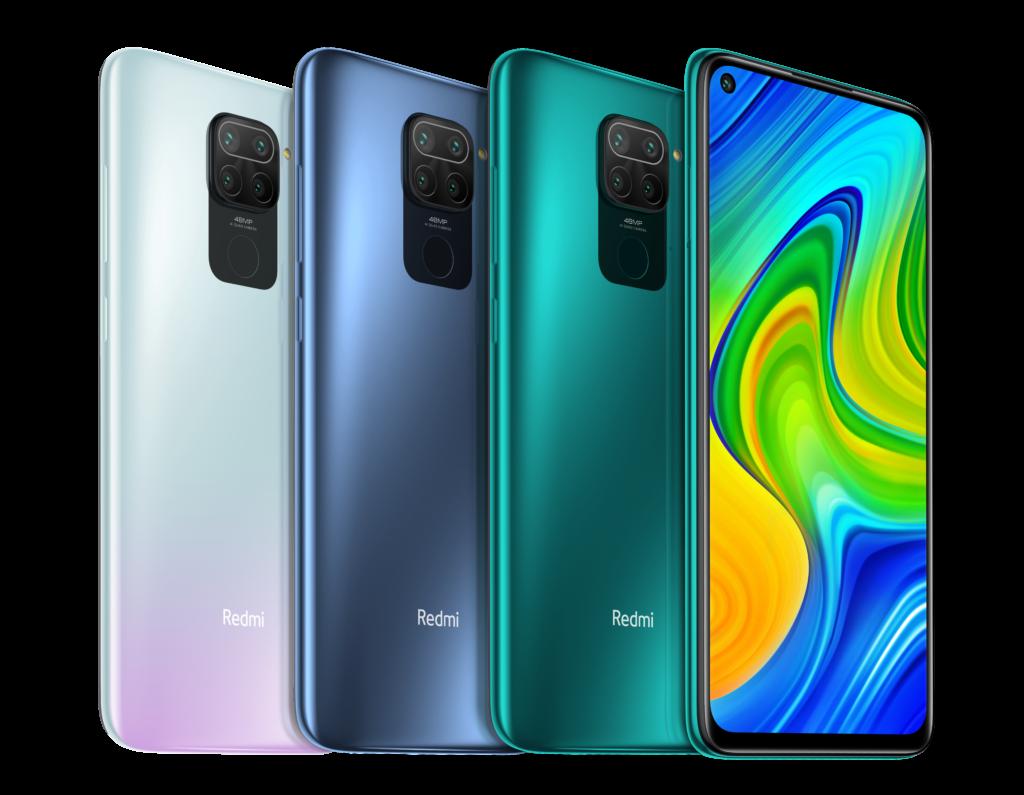 XIAOMI Redmi Note 9 in den unterschiedlichen Farbvarianten