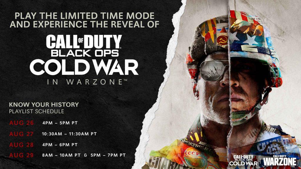 cod black ops cold war warzone reveal event wiederholungen