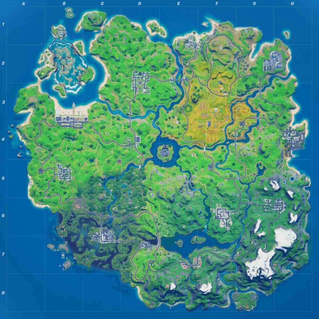 Map Season 4 Fortnite
