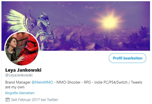Twitter-Profil von Leya Jankowski