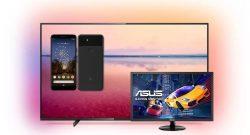 Google Pixel 3a, Riesen-Ambilight-TV & Spielemonitor bei Saturn reduziert