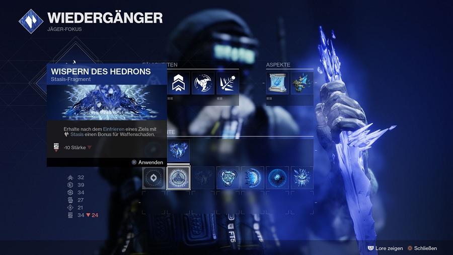 Aspekte Fragmente Sub Klasse Beyond Light Jäger Destiny 2