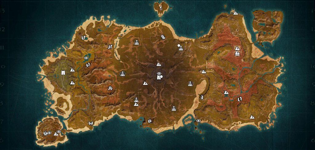 Conan Exiles: Isle of Siptah Map