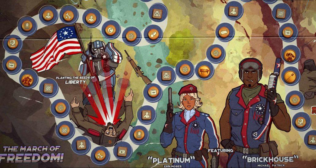 Fallout 76 Season 2 Ödland für Alle Spielbrett