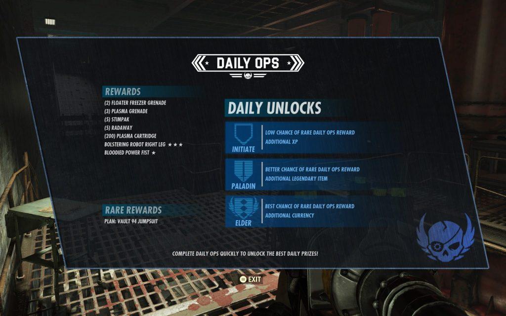 Fallout 76 Tägliche Operationen Belohnungen