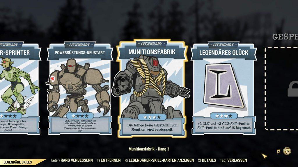 Fallout 76 legendäre Skills ausgerüstet