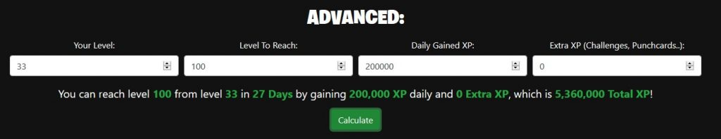 Fortnite Calculator Advanced