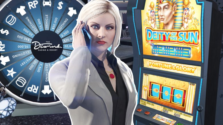 GTA Online Casino Glücksrad Automat Handy Titel