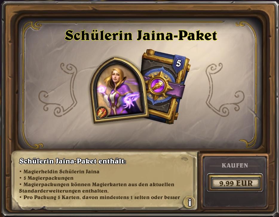 Hearthstone Scholar Jaina Pack