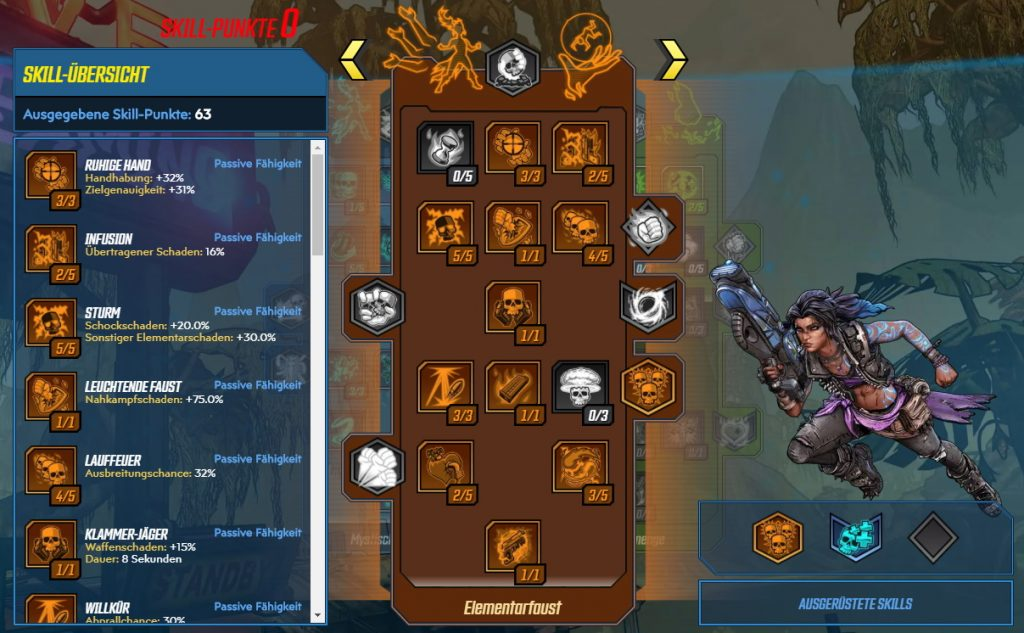 Borderlands 3 Level 65 Build Amara Elementarfaust