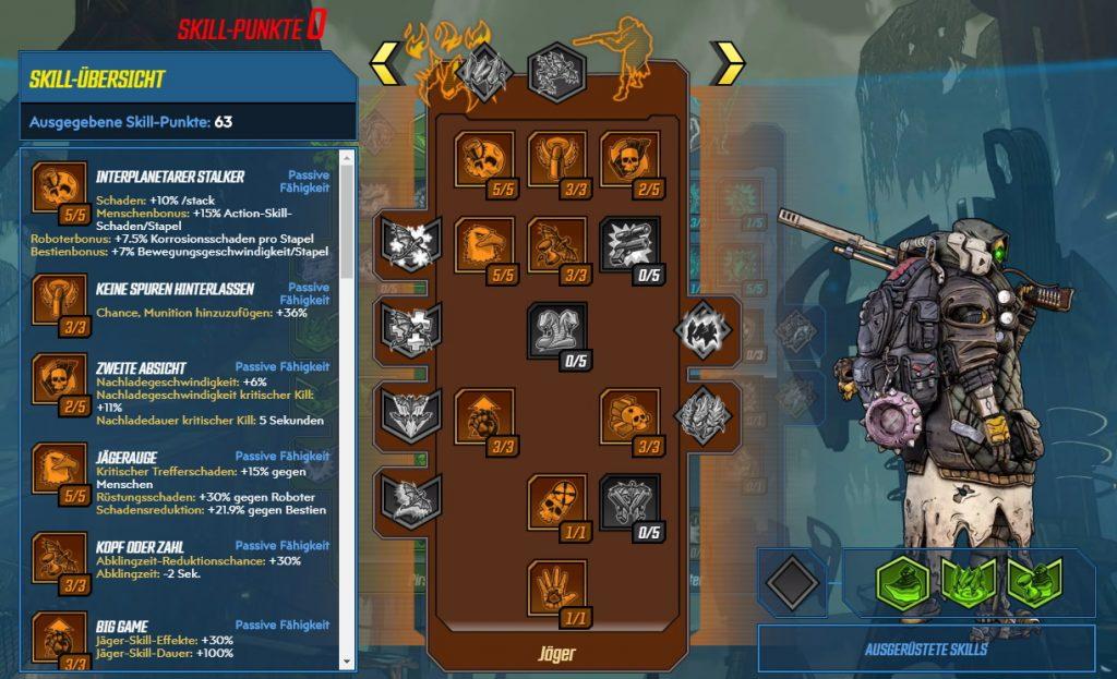 Borderlands 3 Level 65 Build FL4K Jäger