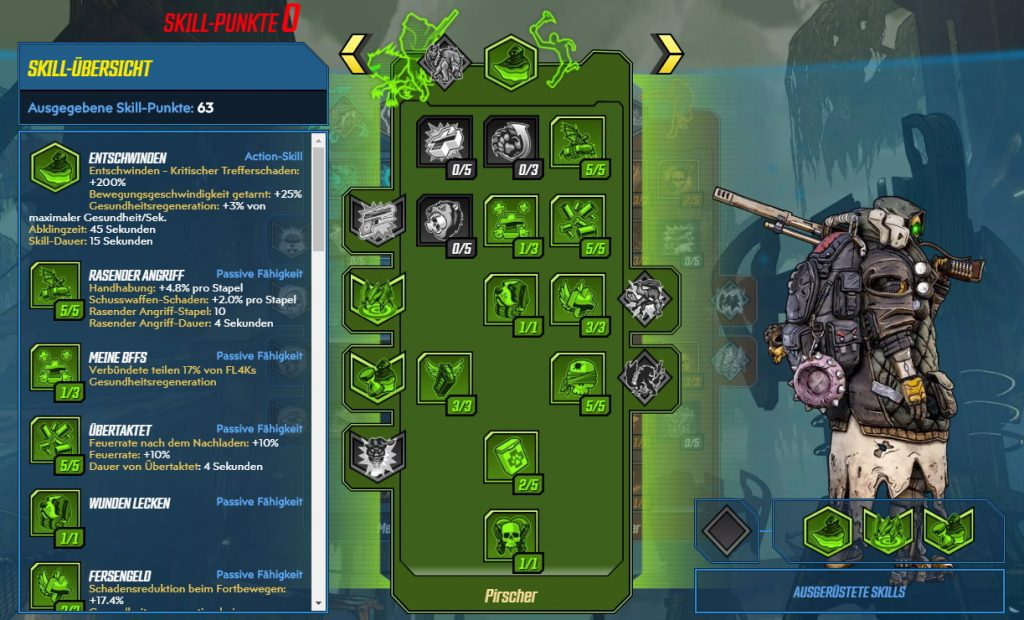 Borderlands 3 Level 65 Build FL4K Pirscher
