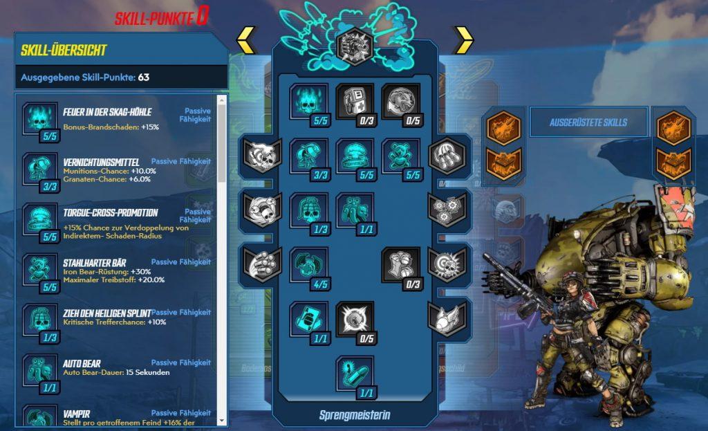 Borderlands 3 Level 65 Build Moze Sprengmeisterin