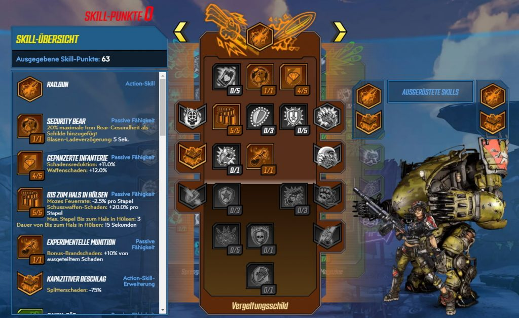 Borderlands 3 Level 65 Build Moze Vergeltungsschild